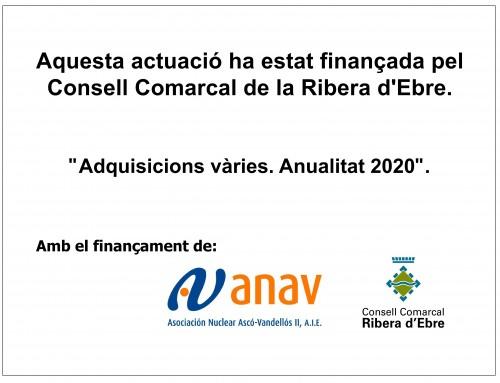 10.000,00 € / SUBVENCIÓ REEQUILIBRI COMARCAL 2020 – CONSELL COMARCAL DE LA RIBERA D'EBRE